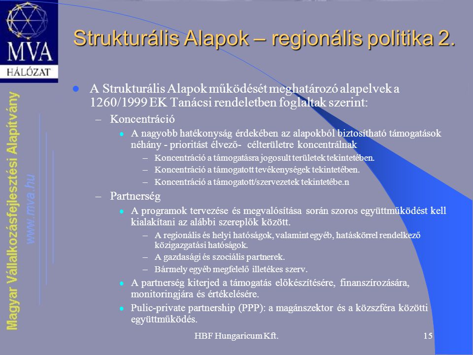 Strukturális Alapok – regionális politika 2.