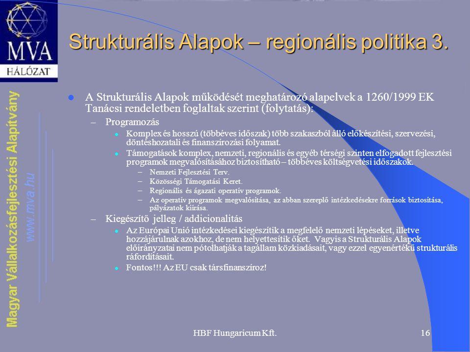 Strukturális Alapok – regionális politika 3.