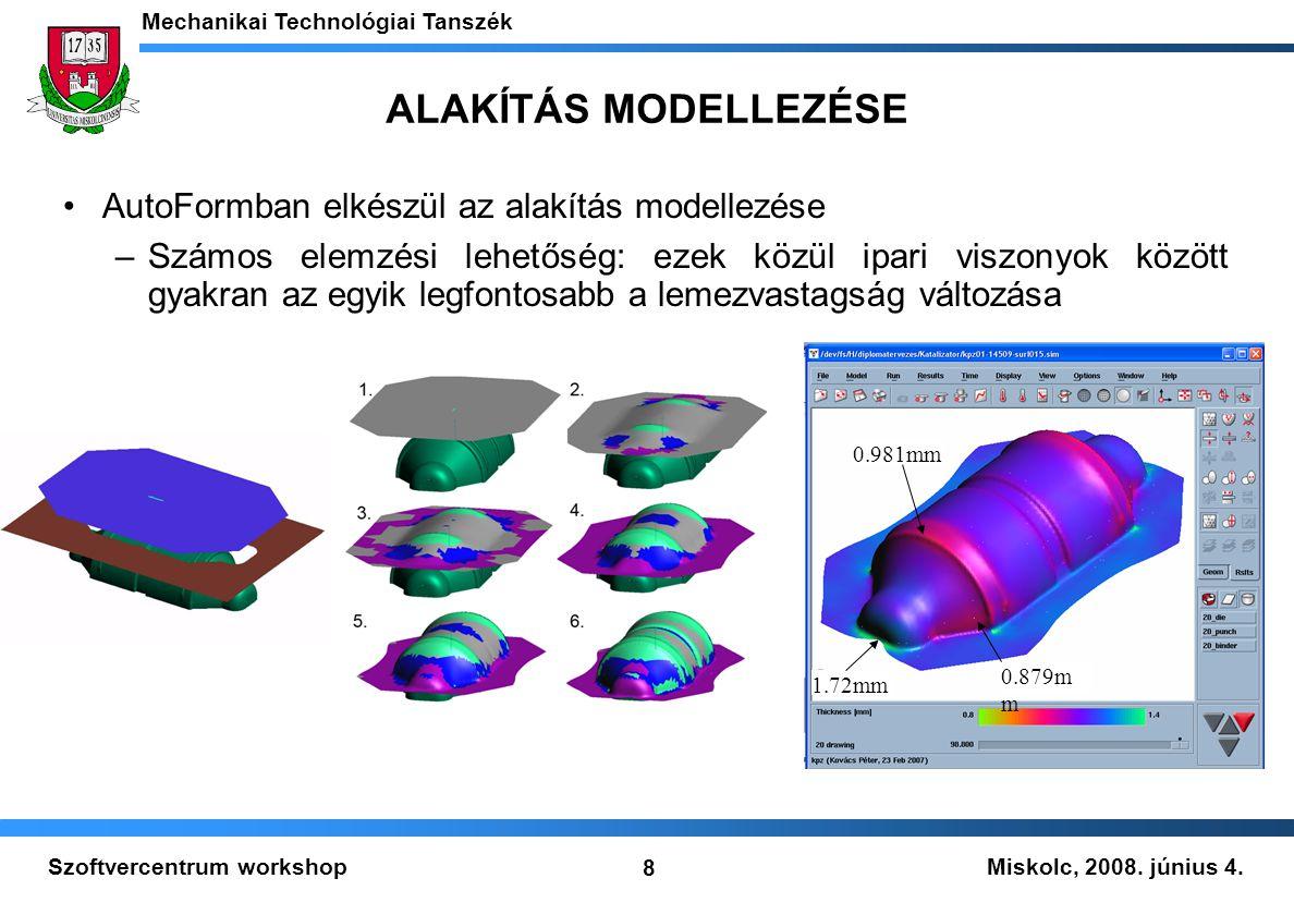 ALAKÍTÁS MODELLEZÉSE AutoFormban elkészül az alakítás modellezése