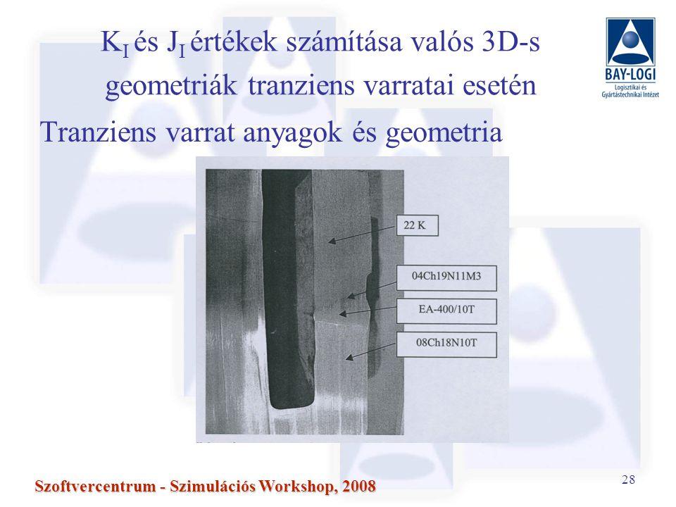 Tranziens varrat anyagok és geometria
