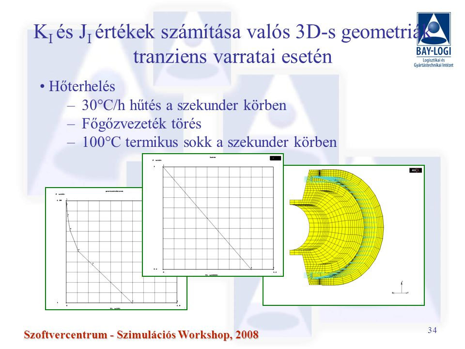 KI és JI értékek számítása valós 3D-s geometriák tranziens varratai esetén