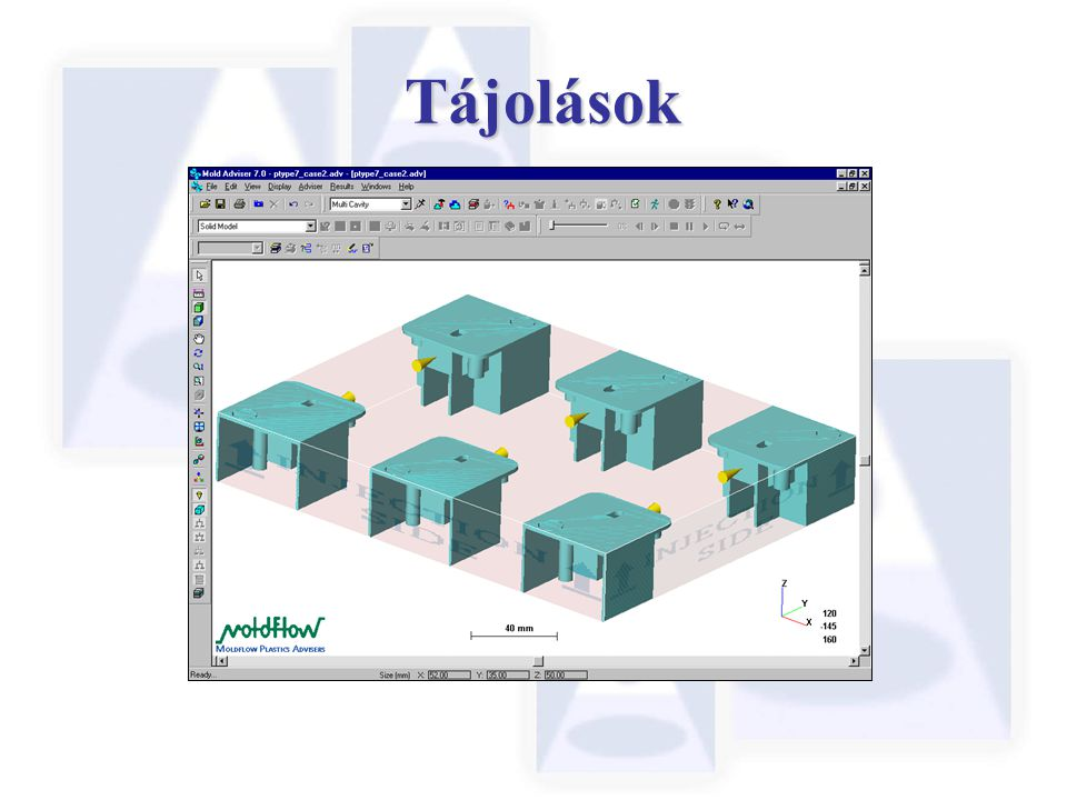 Tájolások The layout and orientation of the 6 cavities is now correct.