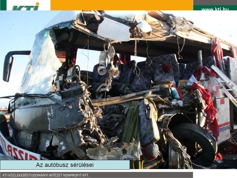 Az autóbusz sérülései