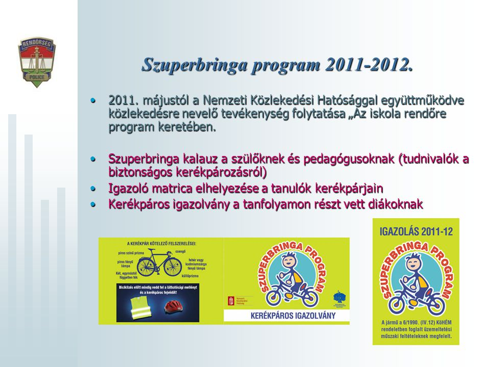 Szuperbringa program 2011-2012.