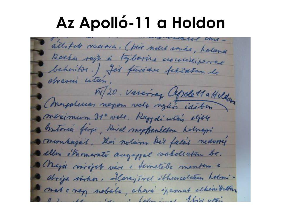 Az Apolló-11 a Holdon