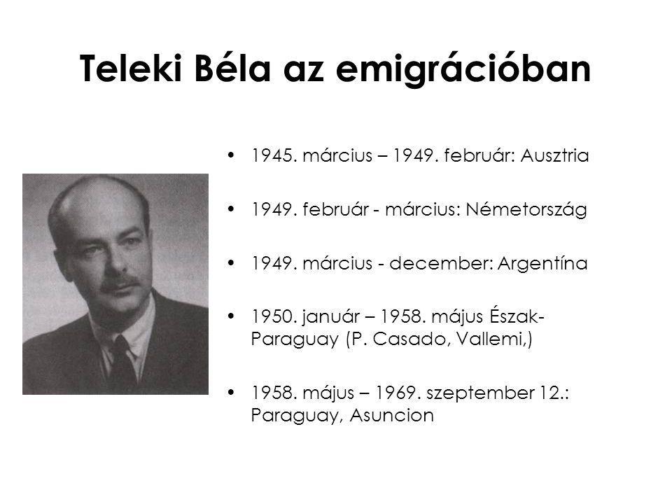 Teleki Béla az emigrációban
