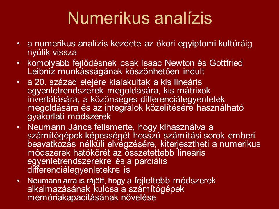 Numerikus analízis a numerikus analízis kezdete az ókori egyiptomi kultúráig nyúlik vissza.