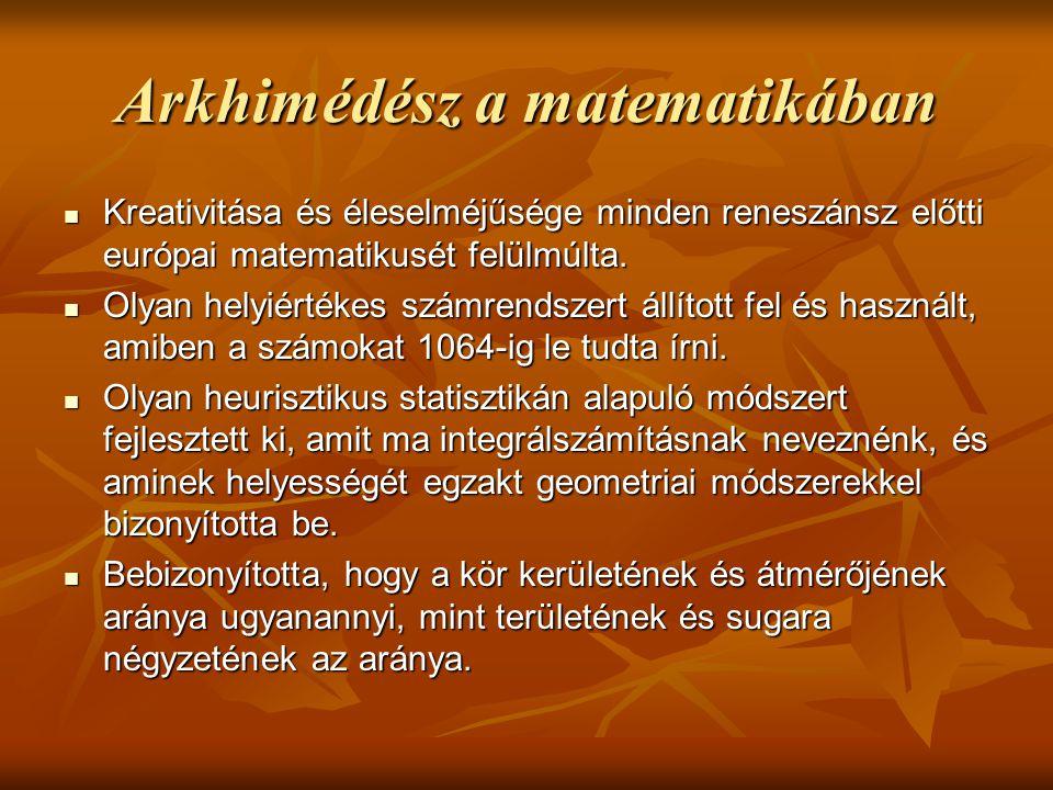 Arkhimédész a matematikában