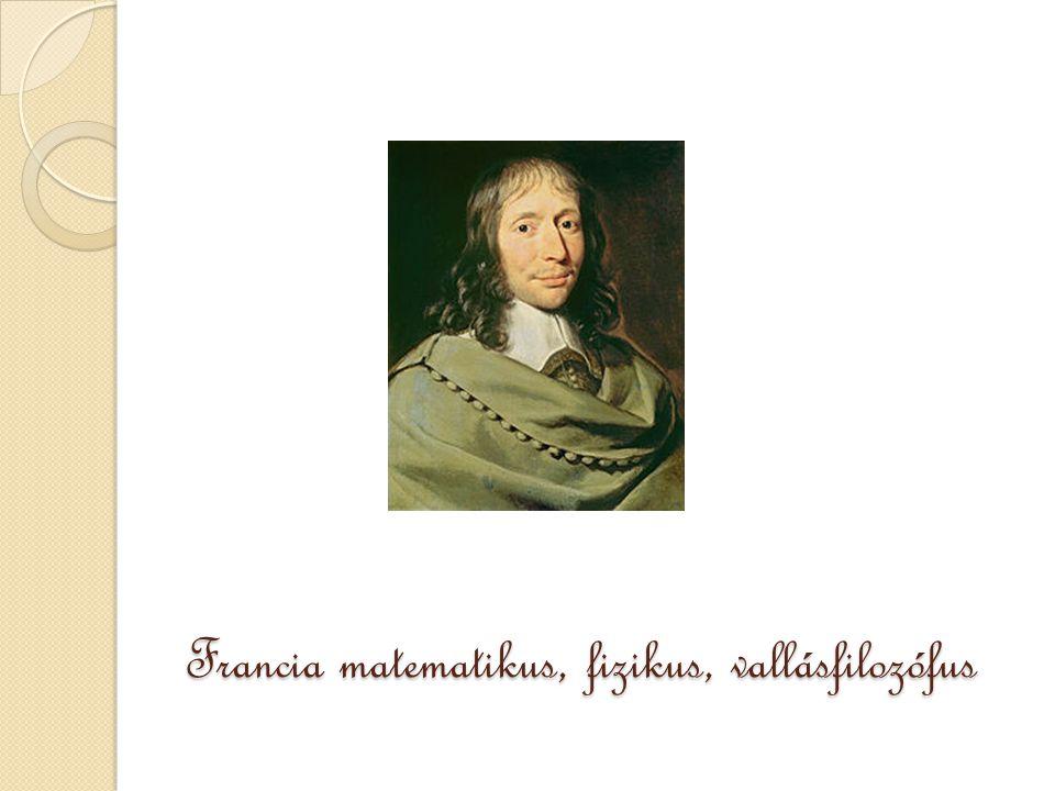 Francia matematikus, fizikus, vallásfilozófus