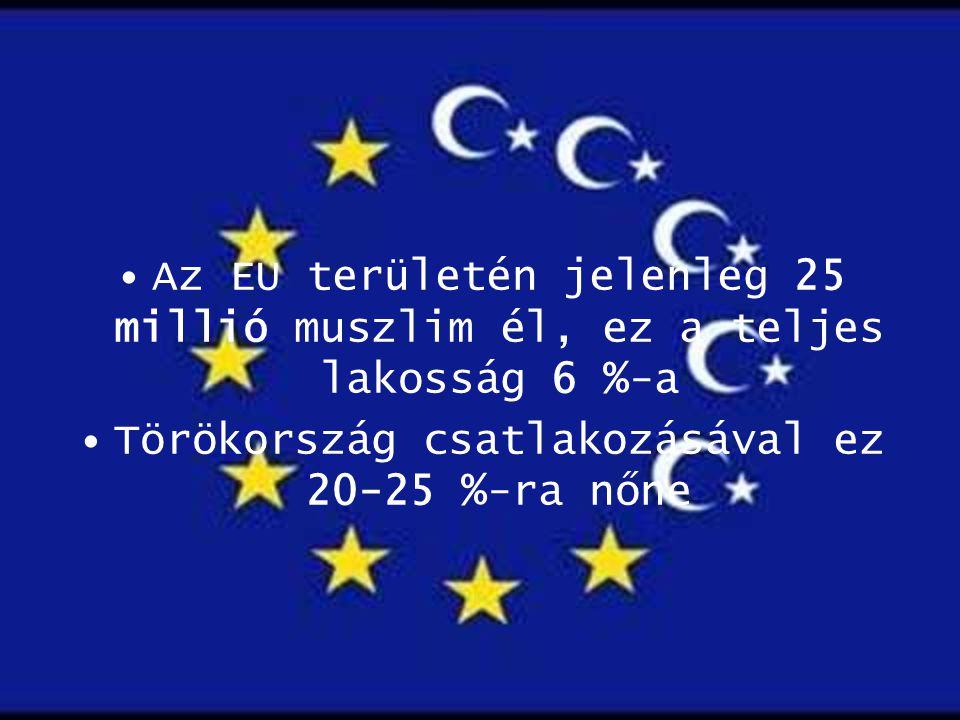Törökország csatlakozásával ez 20-25 %-ra nőne