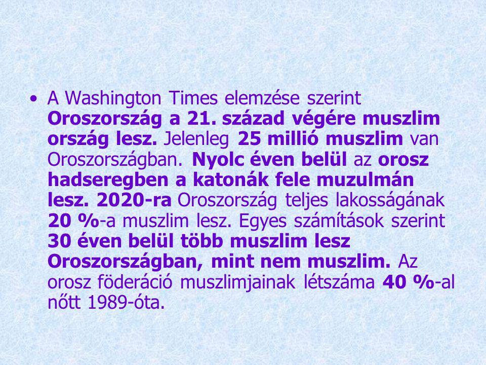 A Washington Times elemzése szerint Oroszország a 21