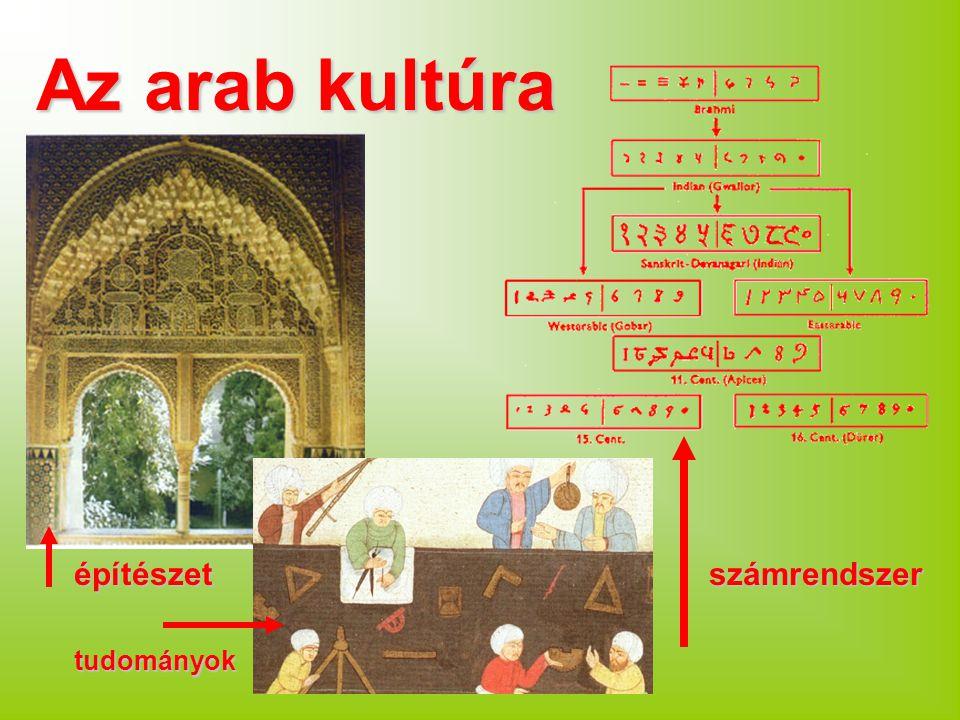 Az arab kultúra építészet számrendszer tudományok