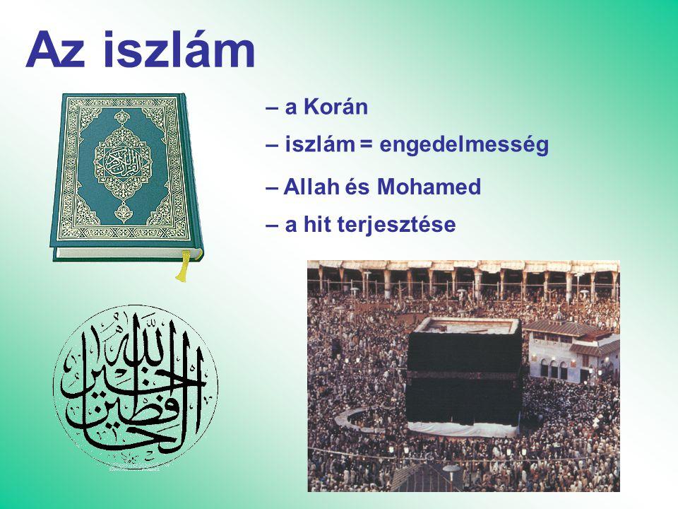 Az iszlám – a Korán – iszlám = engedelmesség – Allah és Mohamed