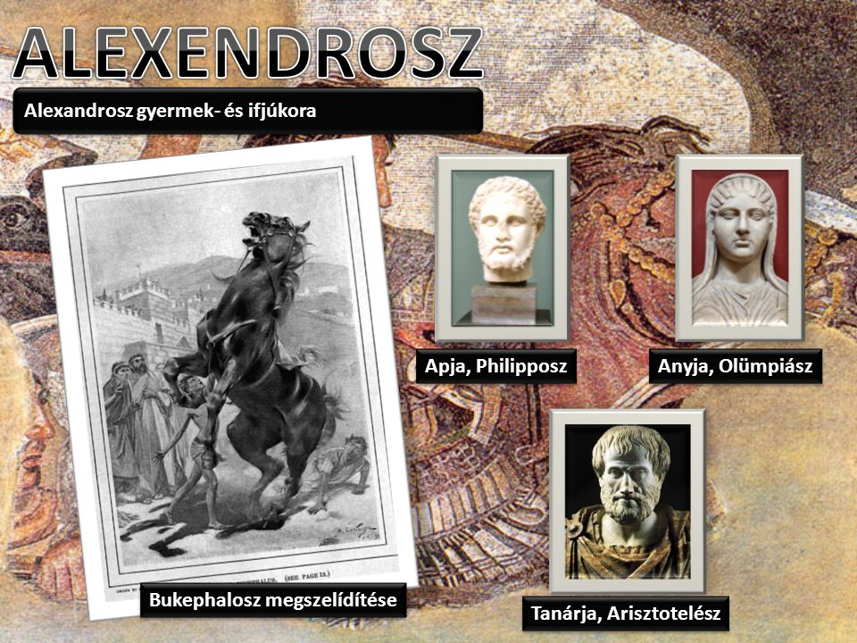 ALEXENDROSZ Alexandrosz gyermek- és ifjúkora Apja, Philipposz