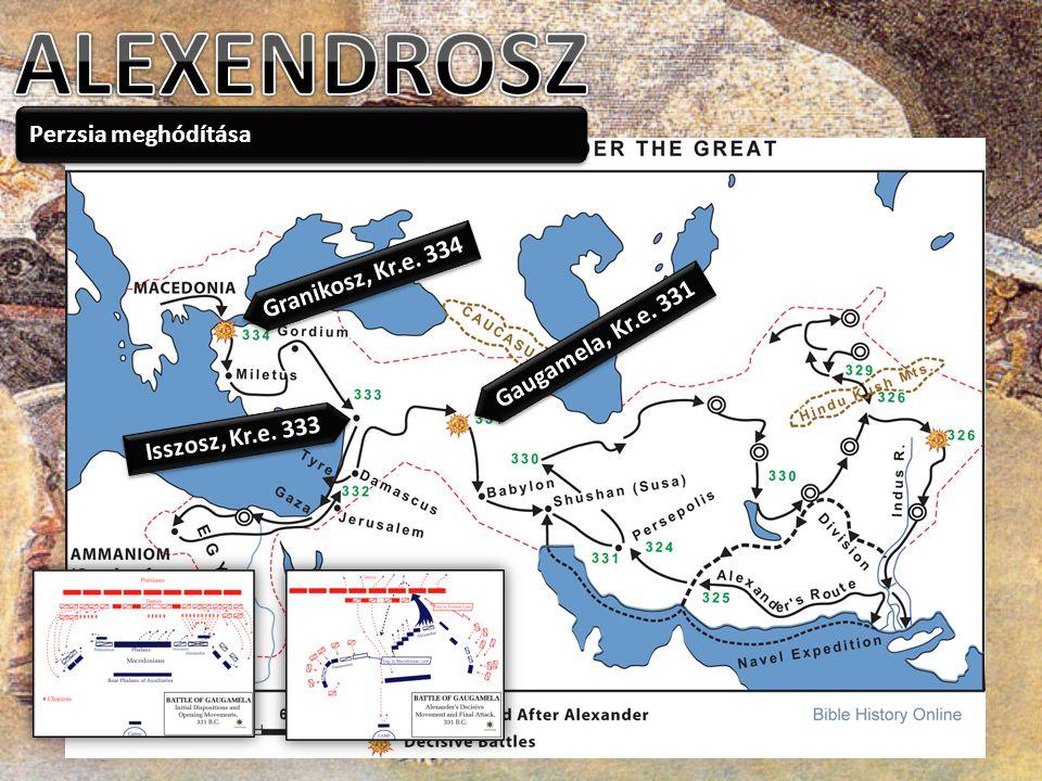 ALEXENDROSZ Perzsia meghódítása Granikosz, Kr.e. 334