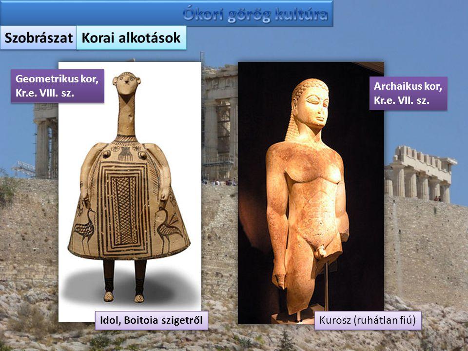 Ókori görög kultúra Szobrászat Korai alkotások Geometrikus kor,