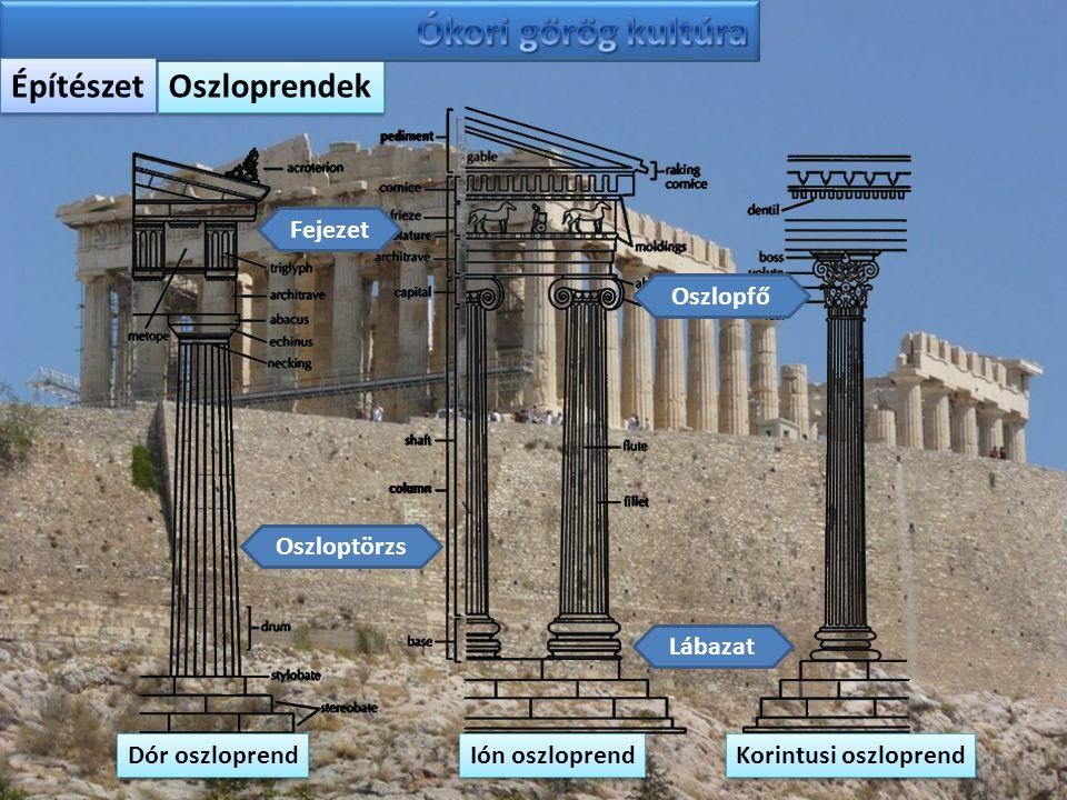Ókori görög kultúra Építészet Oszloprendek Fejezet Oszlopfő