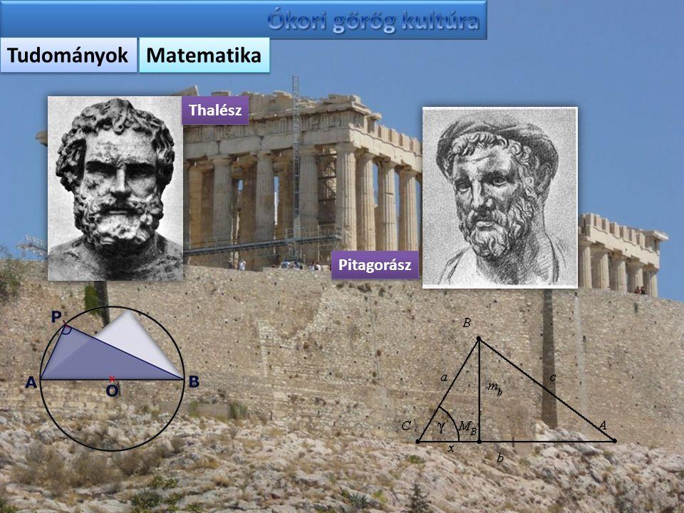 Ókori görög kultúra Tudományok Matematika Thalész Pitagorász