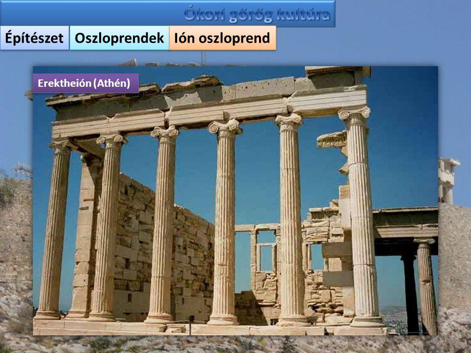 Ókori görög kultúra Építészet Oszloprendek Ión oszloprend