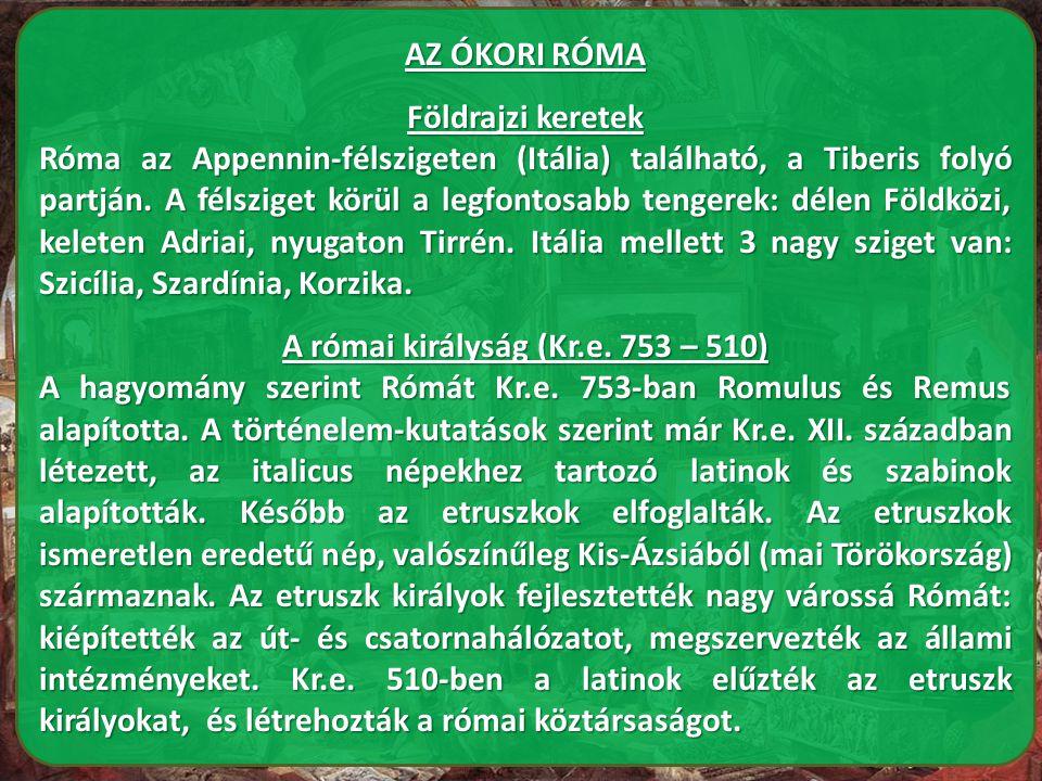 A római királyság (Kr.e. 753 – 510)