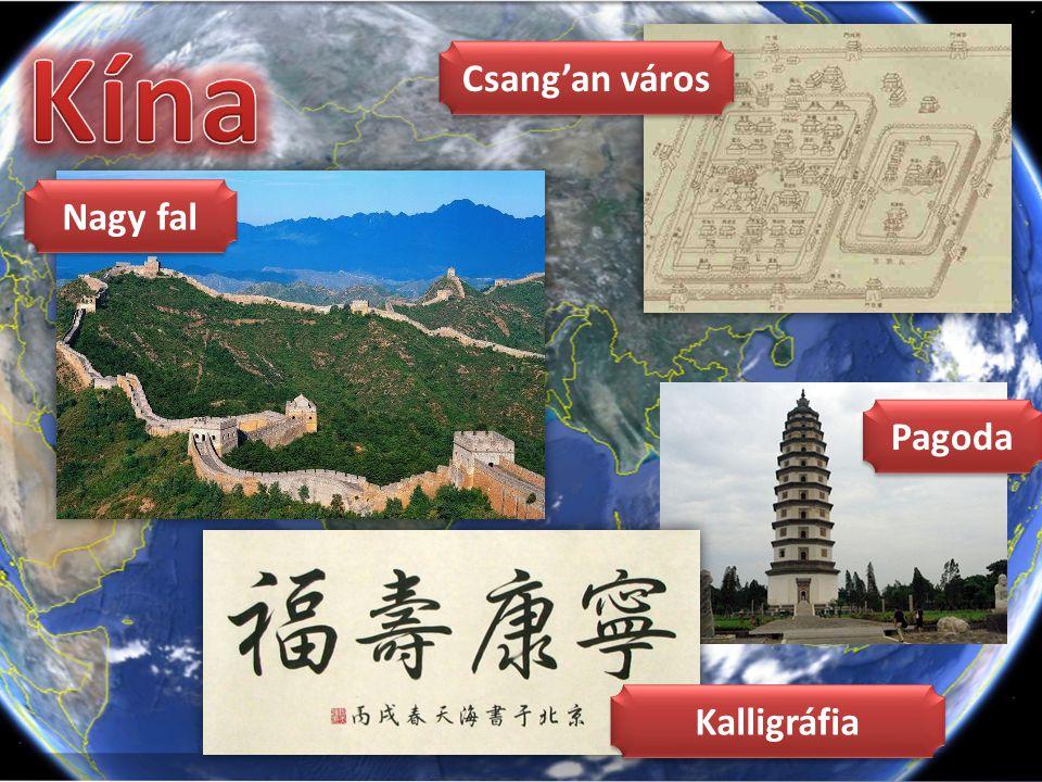 Kína Csang'an város Nagy fal Pagoda Kalligráfia