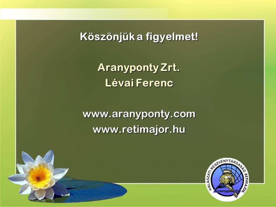Köszönjük a figyelmet! Aranyponty Zrt. Lévai Ferenc www.aranyponty.com www.retimajor.hu