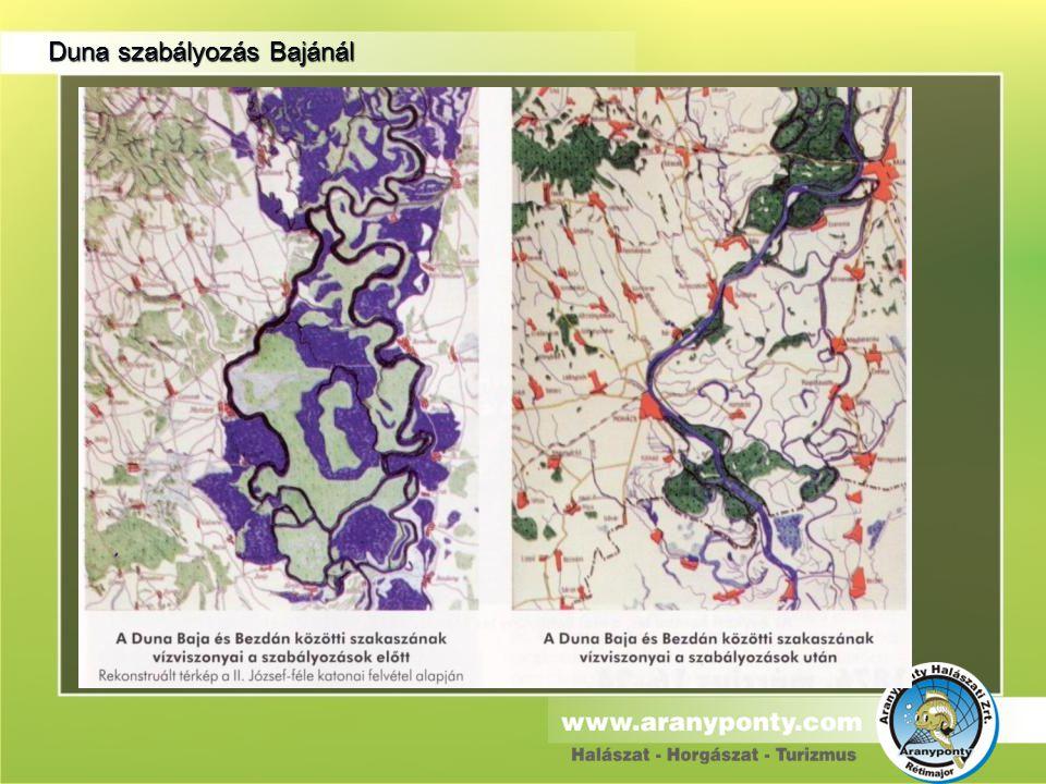 Duna szabályozás Bajánál