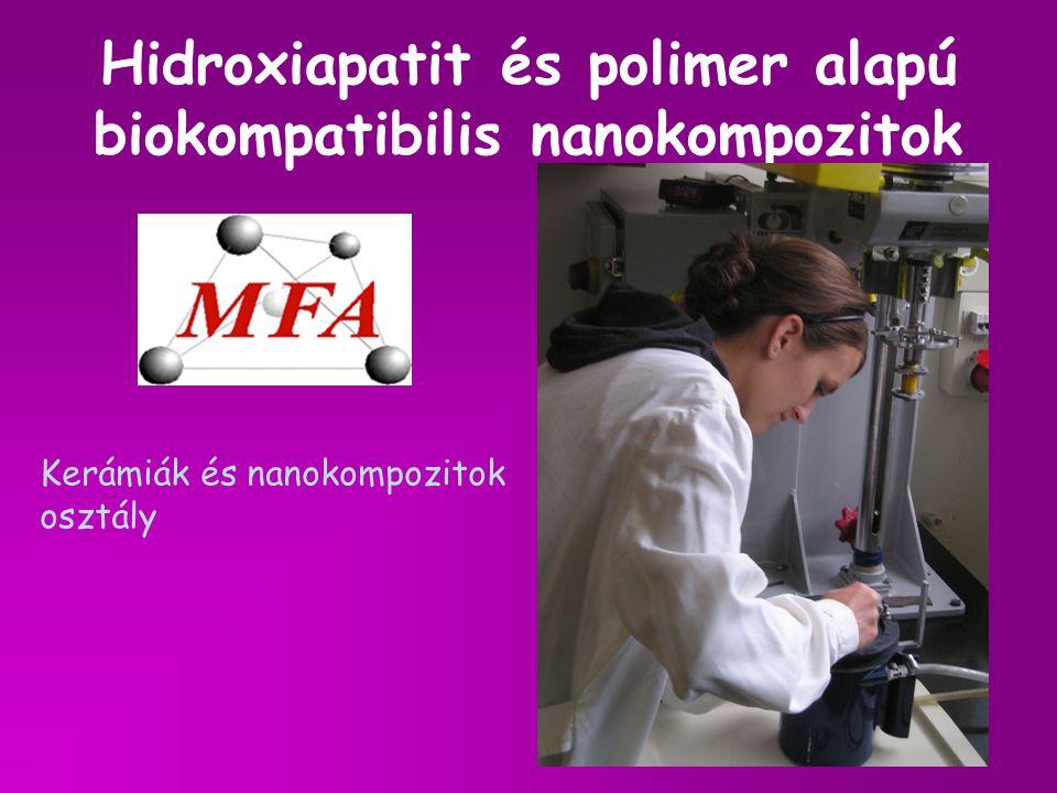 Hidroxiapatit és polimer alapú biokompatibilis nanokompozitok