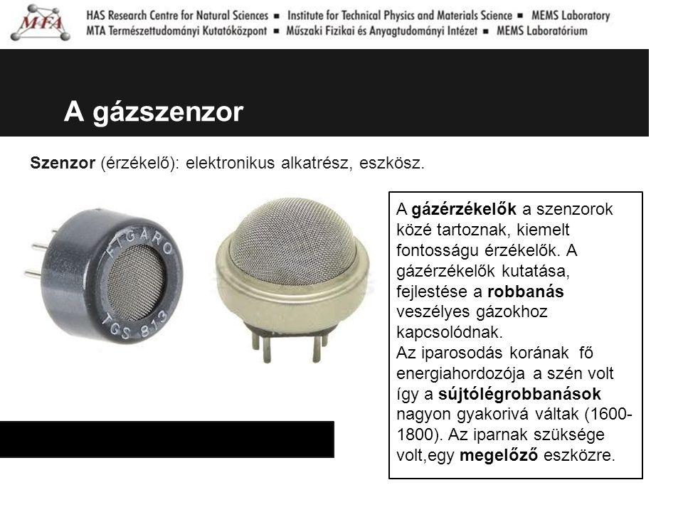 A gázszenzor Szenzor (érzékelő): elektronikus alkatrész, eszkösz.