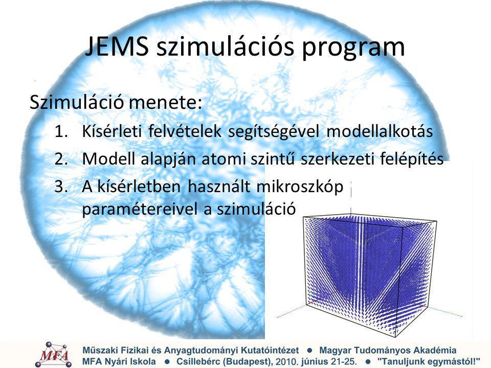 JEMS szimulációs program