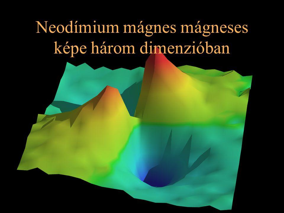 Neodímium mágnes mágneses képe három dimenzióban