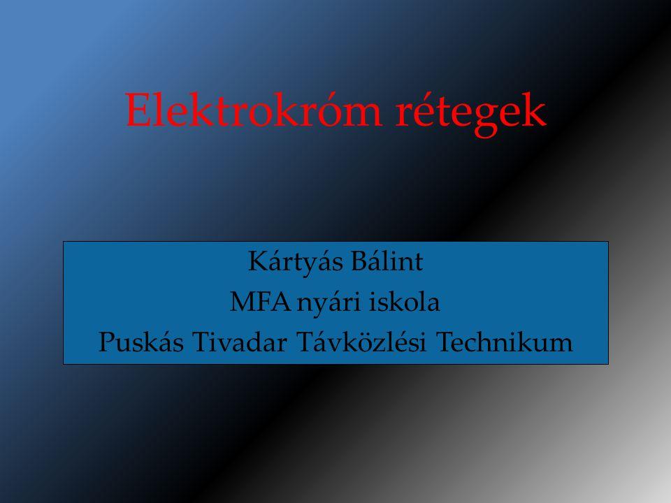 Kártyás Bálint MFA nyári iskola Puskás Tivadar Távközlési Technikum