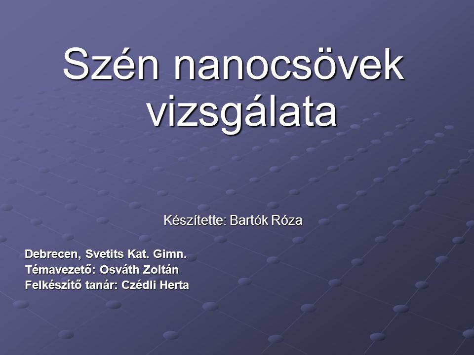 Szén nanocsövek vizsgálata