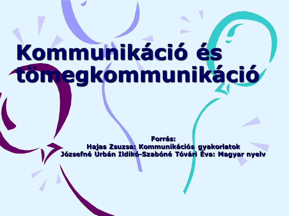 Kommunikáció és tömegkommunikáció