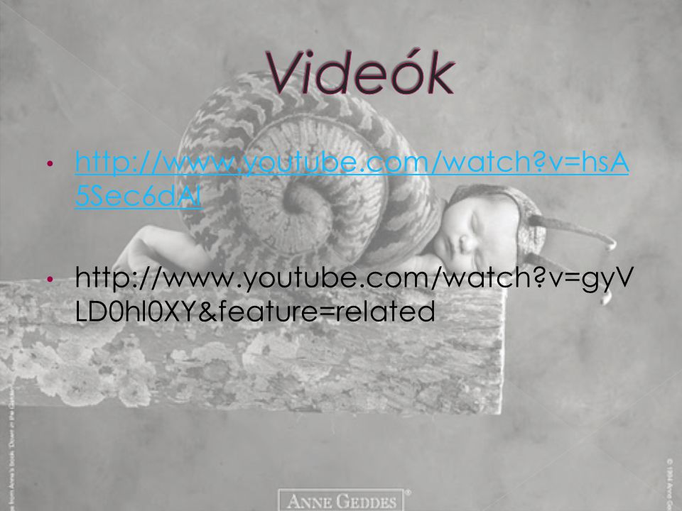 Videók http://www.youtube.com/watch v=hsA5Sec6dAI