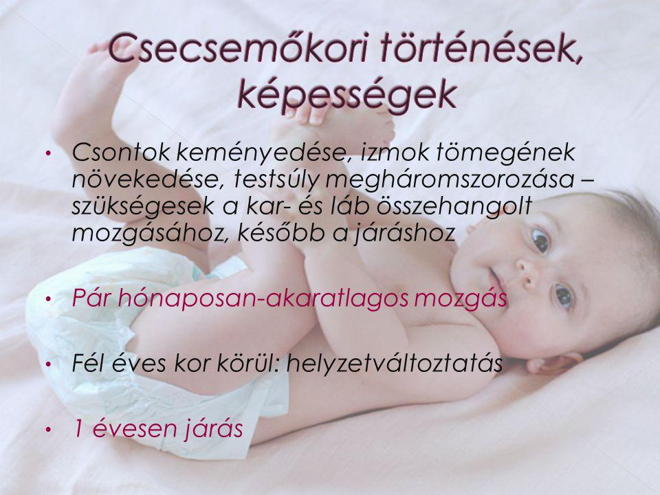 Csecsemőkori történések, képességek