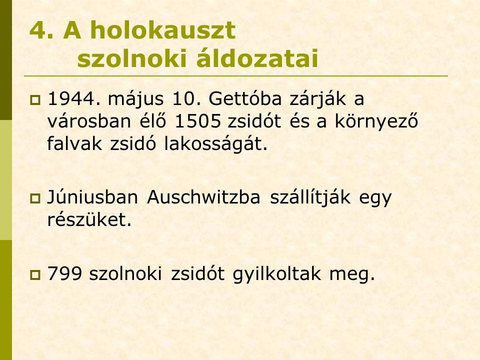 4. A holokauszt szolnoki áldozatai