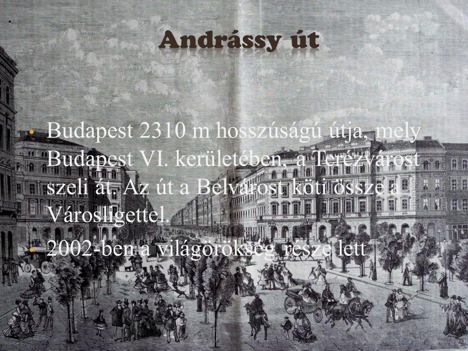 Andrássy út Budapest 2310 m hosszúságú útja, mely Budapest VI. kerületében, a Terézvárost szeli át. Az út a Belvárost köti össze a Városligettel.