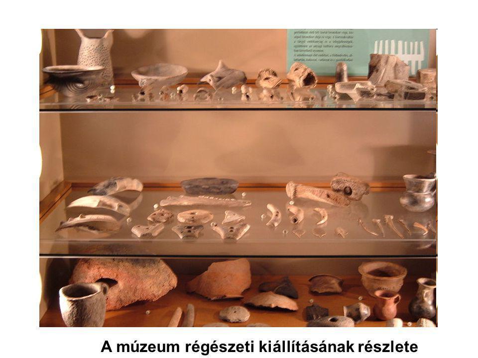 A múzeum régészeti kiállításának részlete