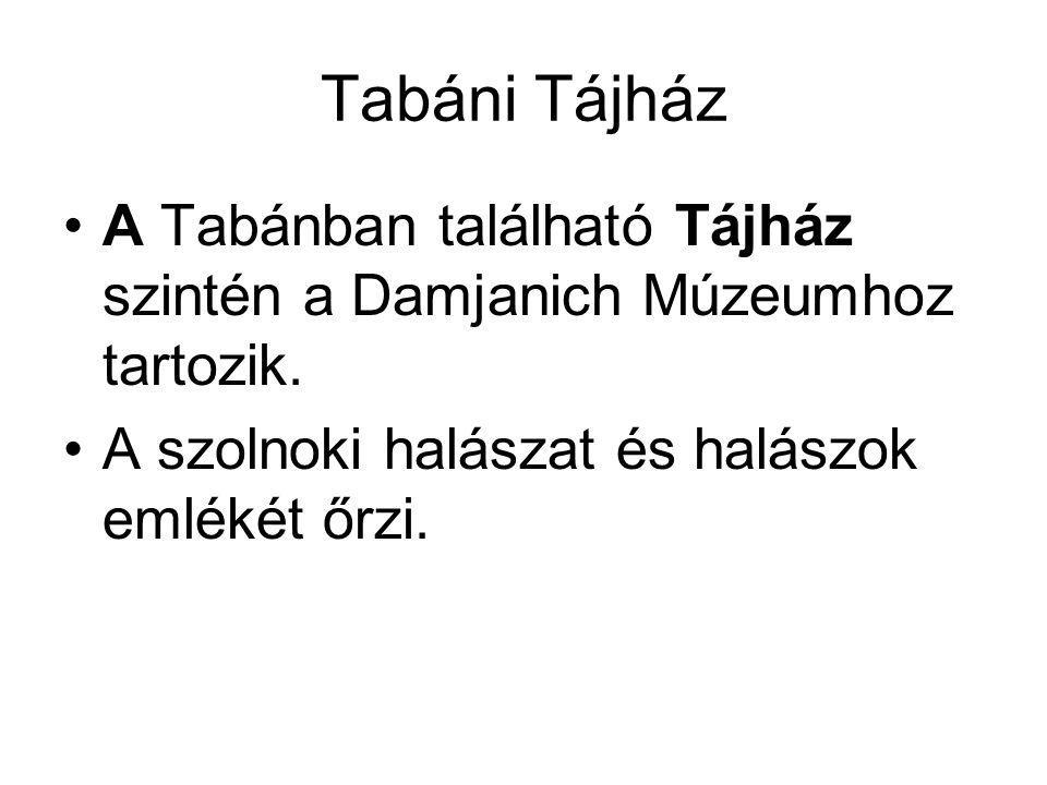 Tabáni Tájház A Tabánban található Tájház szintén a Damjanich Múzeumhoz tartozik.