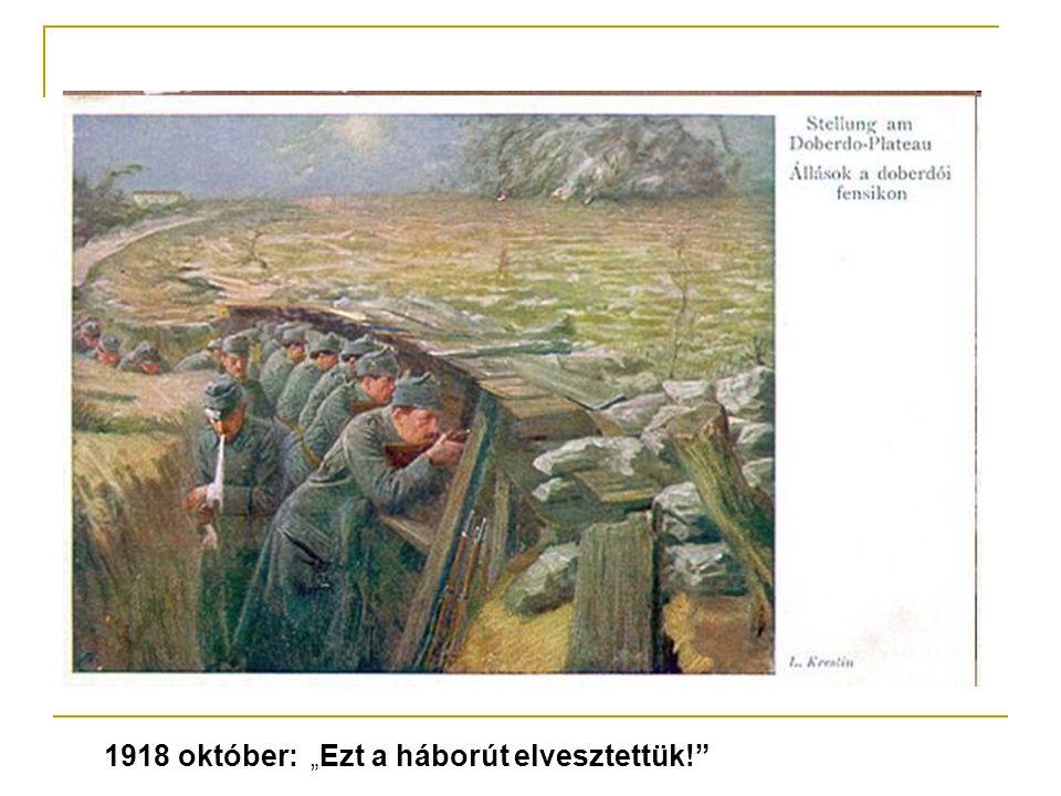 """1918 október: """"Ezt a háborút elvesztettük!"""