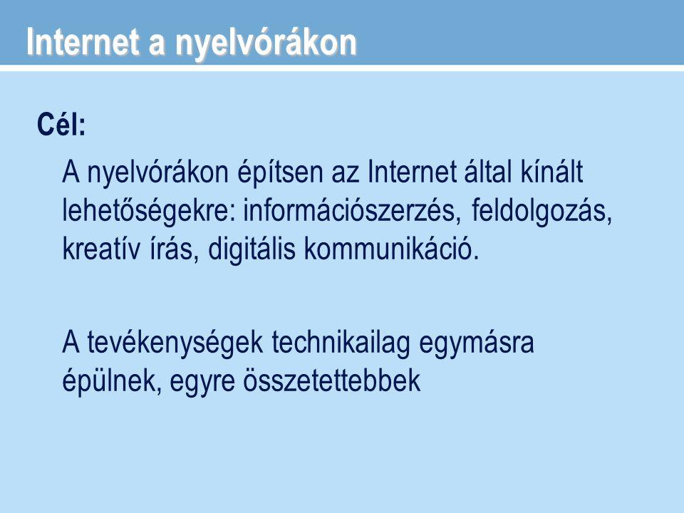 Internet a nyelvórákon