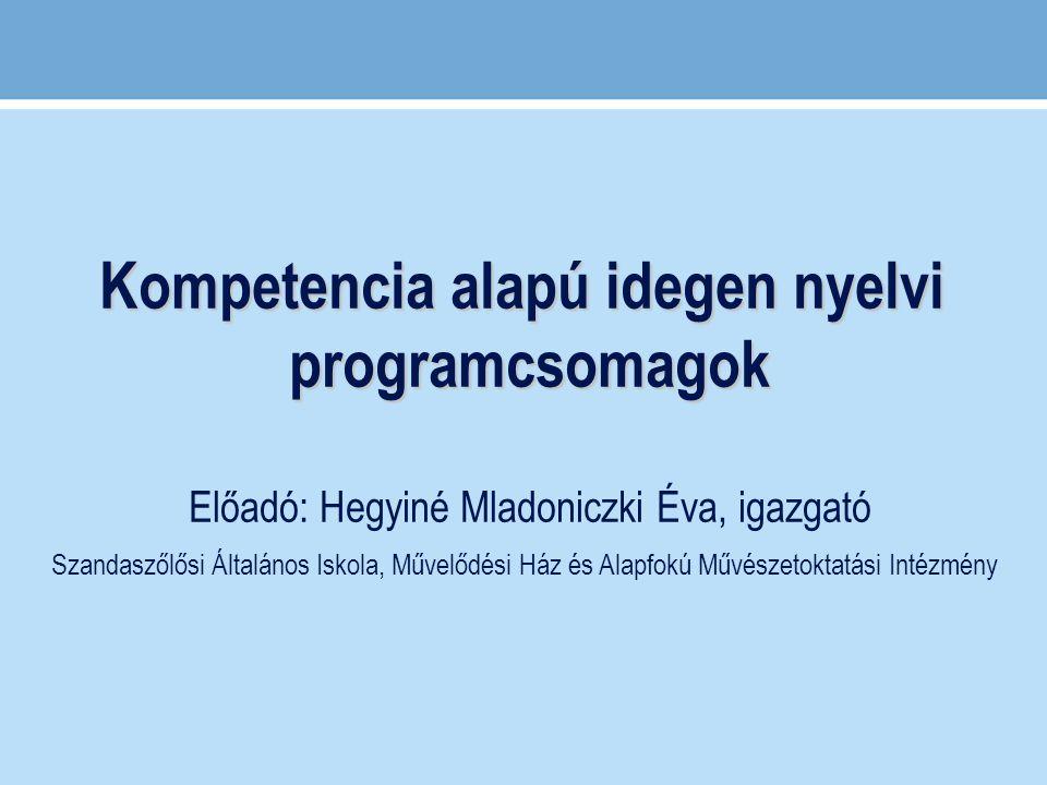 Kompetencia alapú idegen nyelvi