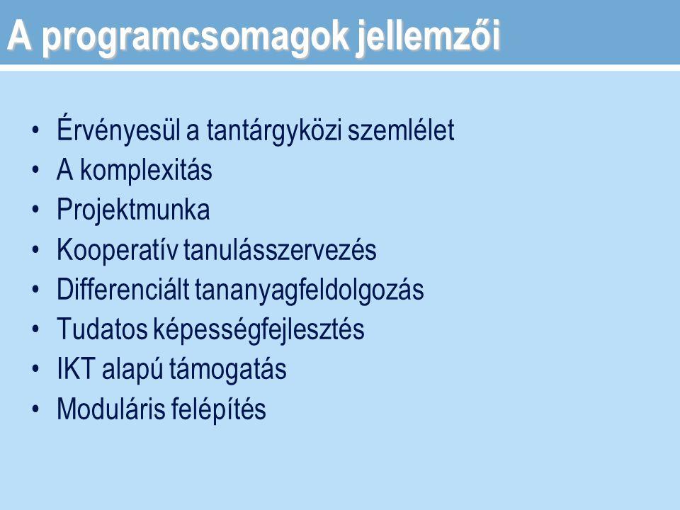 A programcsomagok jellemzői