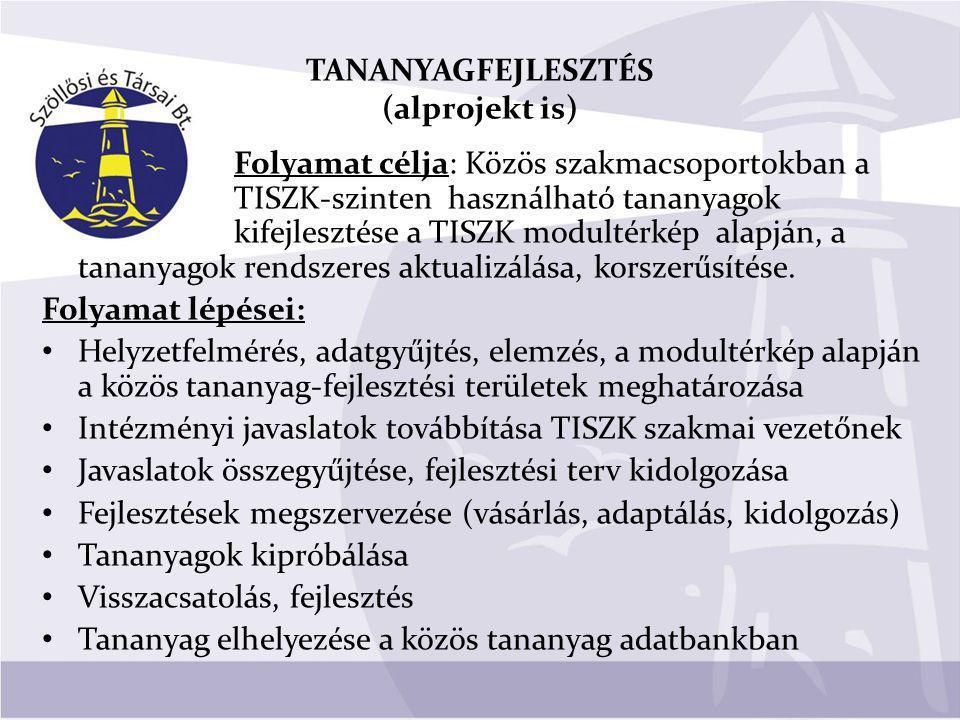 TANANYAGFEJLESZTÉS (alprojekt is)