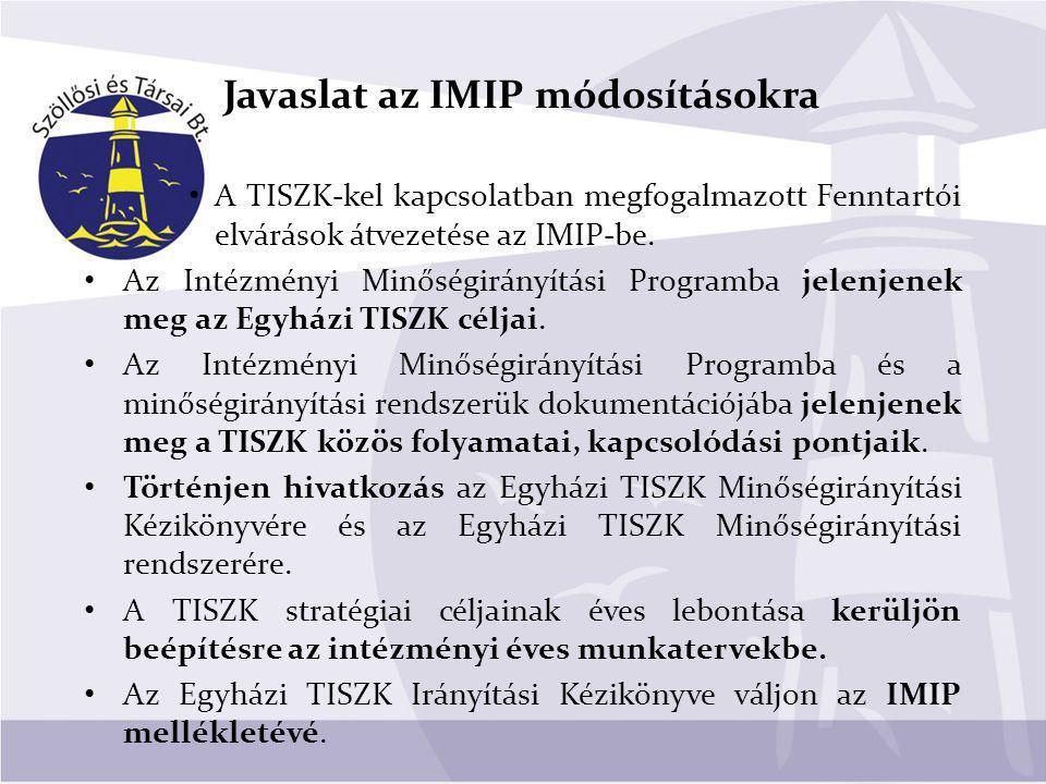 Javaslat az IMIP módosításokra