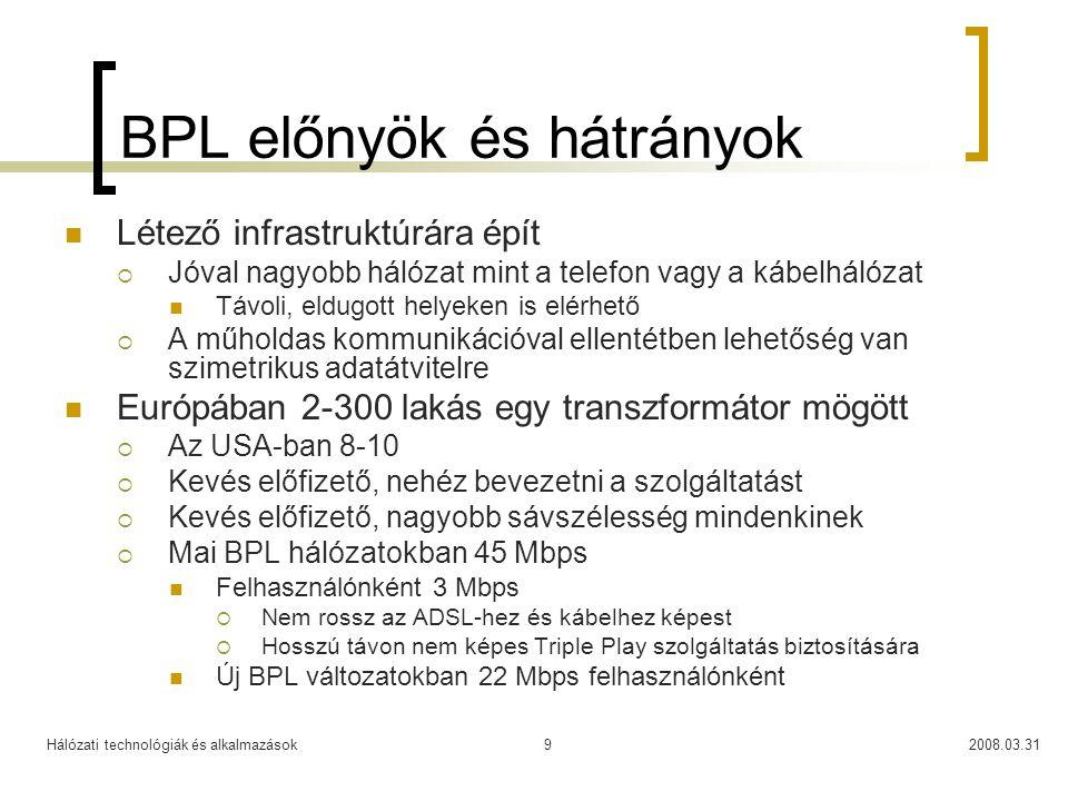 BPL előnyök és hátrányok
