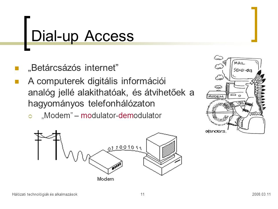 "Dial-up Access ""Betárcsázós internet"
