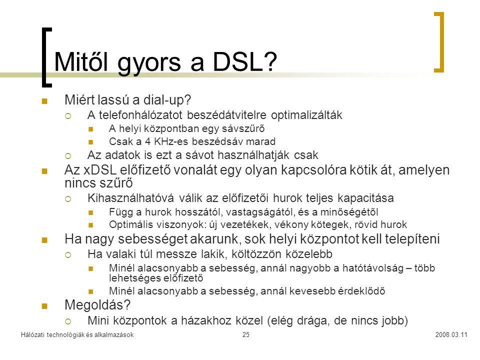 Mitől gyors a DSL Miért lassú a dial-up