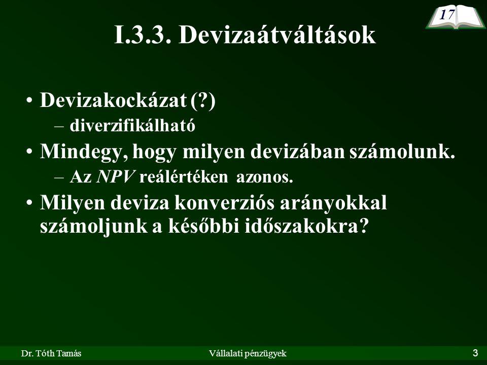 I.3.3. Devizaátváltások Devizakockázat ( )